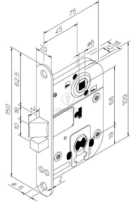 Mortise Lock Abloy 2016