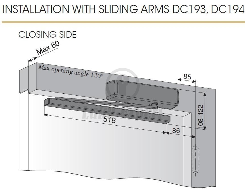Ovensuljin Abloy Dc240 Bc Alumiini Messinki El120 En