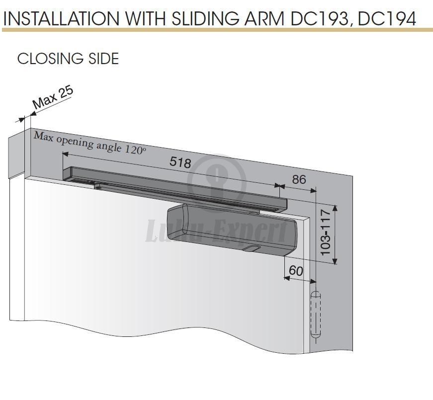 Ovensuljin Abloy Dc330 Alumiini Hopea En Luokka 1 4 80kg