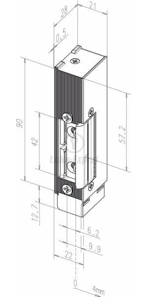 electric strike eff eff 142u left for fire resistant doors