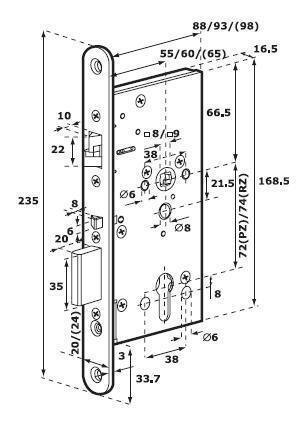 Solenoid Lock Abloy El560 55 60 65 12 24 Vdc 10 15