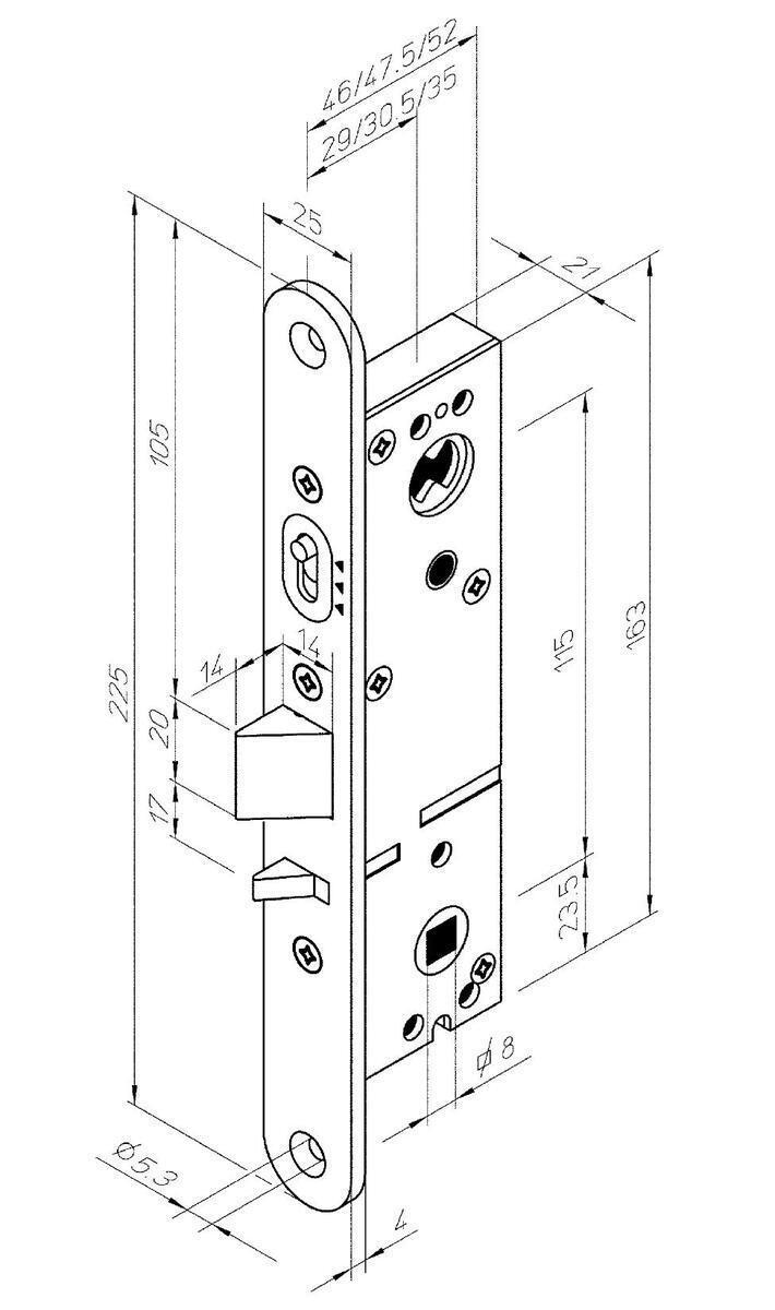 Mortise Lock Abloy Lc301 35 Left Lukuexpert Diagram