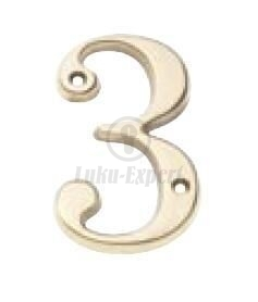 DOOR NUMBER AMIG 2 BRASS (50mm)
