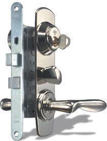 HIGH SECURITY LOCK SET ASSA 2000 BRASS