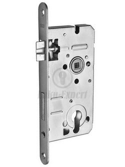EURO MORTISE LOCK HOBES 72/50 ZINC PLATED