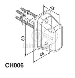 CYLINDER COVER ABLOY CH 006 6428