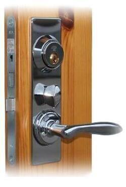 SECURITY LOCK SET ASSA 2000 TWIN SATIN CHROME