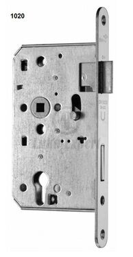 3 POINT MORTISE LOCK BMH 1020+1030 2PCS, SS FRONT PLATE, backset 80mm