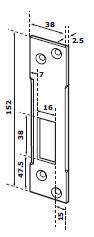 LUKUVASTUS ABLOY EA307 2.5 mm (lukule Abloy EL402,EL480,490, LE981,PE951,LE931,PE941)