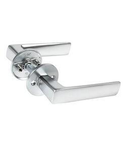 DOOR HANDLE ABLOY  FORUM 4/007 BRASS/SCR (spring loaded, 40-60mm doors)