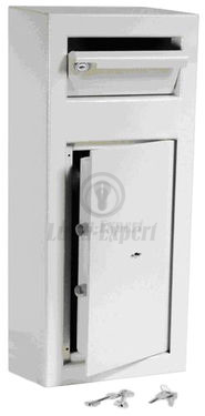 DEPOSIT SAFE 60x25x25cm OPENING WITH KEY (2 keys included)