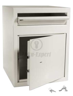 DEPOSIT SAFE 60x46x46cm OPENING WITH KEY (2 keys included)