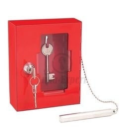 EMERGENCY EXIT KEY CONTROL CABINET STERLING 120x150x40mm, with a hammer