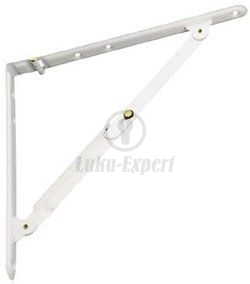 FOLDING SHELF BRACKET AMIG 3 WHITE 200x200mm