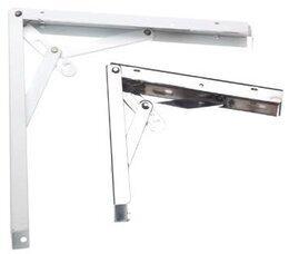 FOLDING SHELF BRACKET AMIG 8 WHITE 300x300mm
