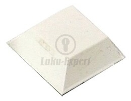 DOORSTOP 3M 13x13mm WITH STICKER (WHITE)