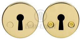 ESCUTCHEON ABLOY 001A FE/GOLD