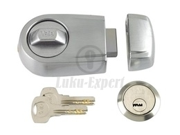 RIM LOCK YALE SATIN CHROME (for up to 70mm doors)