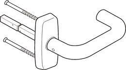 DOOR HANDLE ABLOY INOXI 3-19/0651 STAINLESS STEEL