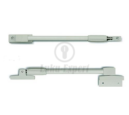 Telescopic window stay / opening inwards and outwards / 525 - 845 min-max / white-white