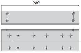 UKSESULGUR ABLOY NURK-KINNITUSPLAAT DC113 (uksesulgurile DC330 / DC335)