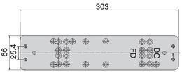 UKSESULGUR ABLOY PAIGALDUSPLAAT DC106 ZN/HÕBE (UKSESULGURitele DC240; 247; 250; 405)