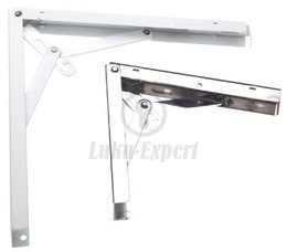 FOLDING SHELF BRACKET AMIG 8 WHITE 200x200mm