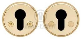 ESCUTCHEON ABLOY 016PZ BRASS/POLISHED