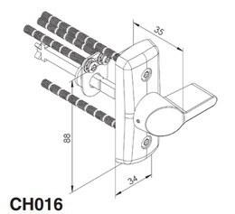 VÄÄNDENUPP ABLOY CH016 MATT MESSING KOMPLEKT (5589)