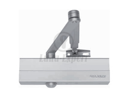 DOOR CLOSER ASSA DC140 BC with arm ALUMINIUM/SILVER (suitable for fire doors)