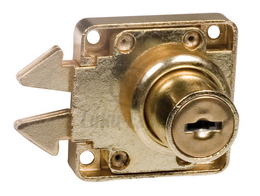 FURNITURE LOCK AMIG 2A NICKEL (with rose and striking plate)