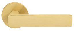 ДВЕРНАЯ РУЧКА ABLOY  FORUM 4/007 ЛАТУНЬ МАТОВАЯ (с усилиной пружиной, 40-60мм дверям)