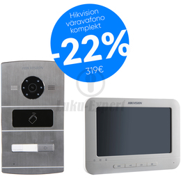 VIDEOFONO HIKVISION  (KOMPLEKT, ERAMUTELE, 1 NUPUGA, DS-KV8102-IM+DS-KAD606+DS-KH6310-WL)