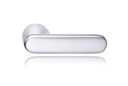 DOOR HANDLE ABLOY DOMUS 12 BRASS/SCR (spring loaded, 55-80mm doors)