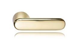 DOOR HANDLE ABLOY DOMUS 12 BRASS/POLISHED (spring loaded, 55-80mm doors)