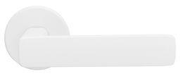 ДВЕРНАЯ РУЧКА ABLOY  FORUM 4/007 ЛАТУНЬ/БЕЛАЯ (с усилиной пружиной, 40-60мм дверям)