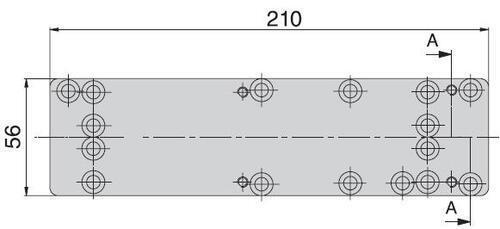 UKSESULGUR ABLOY SILE PAIGALDUSPLAAT DC130 (uksesulgurile DC330 / DC335)