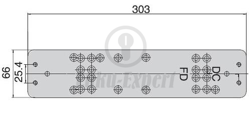 МОНТАЖНАЯ ПЛАСТИНА Abloy Dc106 для доводчика Dc240 247