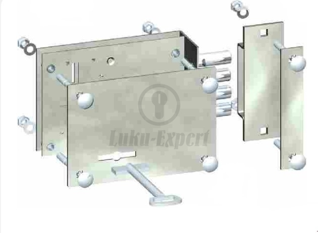 RIM LOCK FOR GARAGE AND GATE DOORS (for Left Handed Doors)