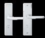 DOOR HANDLE ALUX 45 SECURITY SILVER (up to 65mm doors)